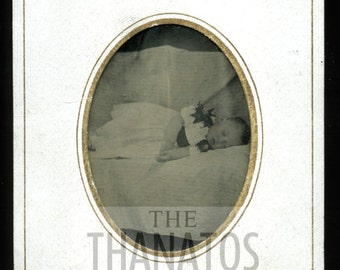 1870s Post Mortem Tintype