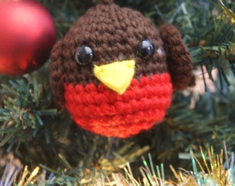 PDF Pattern for Crocheted Robin-Penguin Bauble