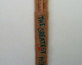 Burlap Yardstick Holder - The Greatest Fisherman