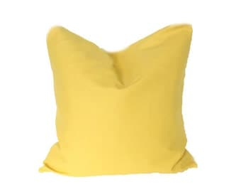 Solid Yellow Pillow Cover