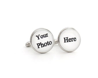 Customized Cufflinks Photo Cufflinks Custom Cufflinks for men Logo Cuff links Picture Cufflink Art Cuff link Personalize Cufflink
