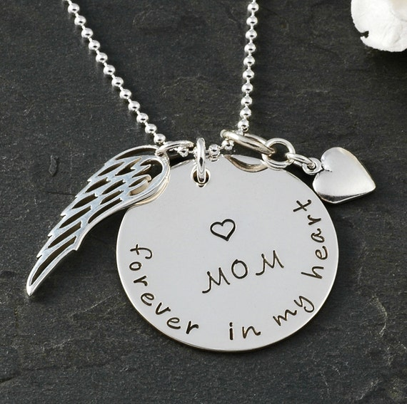 In remembrance Necklace - In memory of Mom