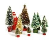 Vintage Christmas Trees and Santa