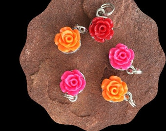 Portland Rose Garden Stitch Markers for Knitting