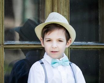 Teal bow tie  - linen bow tie - Mint bow tie - Baby boy bow tie - Toddler bow tie - Mint Man bow- tie - Mint blue bow tie - Aqua blue bowtie