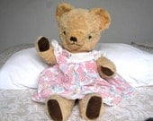 """Reserved for Eileen  Sleeping 20"""" Deans Bear - Bear with Open and Close Eyes - 1960's Deans Bear with Label"""