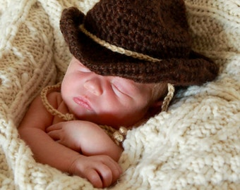 Cowboy Hat - Baby Cowboy Hat - Cowboy Photo Prop Hat - Gift for Baby = Baby Western Hat - by JoJosBootique