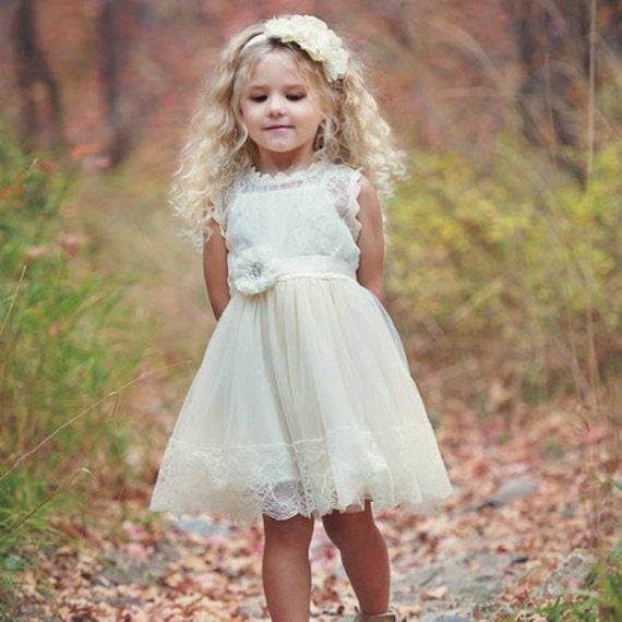Flower girl dress lace flower girl dress country flower girl - Blumenkinder kleider ...