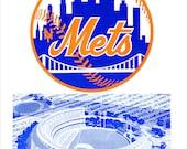 "New York Mets 1962 Inaugural season program and score card cover print - 13""x19""- New York Mets fan gift - vintage program poster"