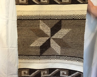 Large 1970s Hand Woven Wool Wall Hanging