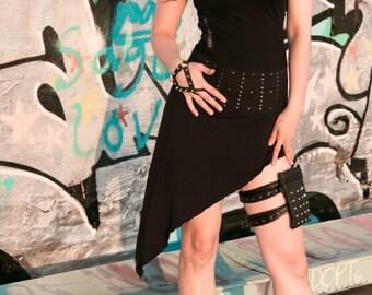 Custom Studded Leather Thigh Bag