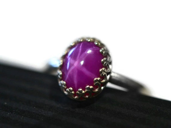 ruby ring handmade sterling silver cocktail ring simple