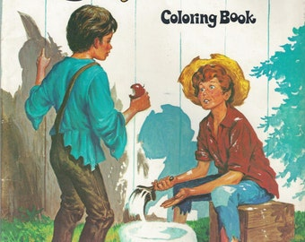 The Adventures of Tom Sawyer Vintage Coloring Book, C1978