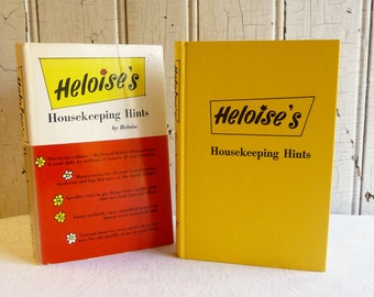 Vintage Heloise's Household Hints Book with Dust Jacket - Published 1962 - Mid-Century 1960s - Great Bridal Shower Gift