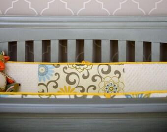 You Are My Sunshine, Custom Baby Girl Crib Bedding, Floral Crib Bumper, Blue and yellow baby bedding, Round Crib Bedding