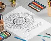 Mantra Mandala - Adult Coloring Pages - Downloadable Coloring Pages - Mandala Coloring Pages