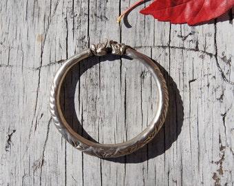 Asian Indian Makara Elephant Tribal Bangle Bracelet
