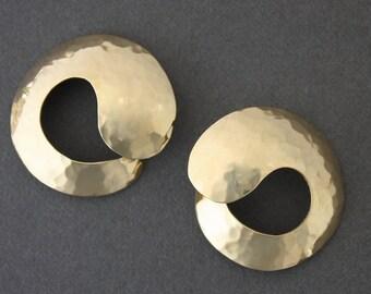 Brass Hoops, small