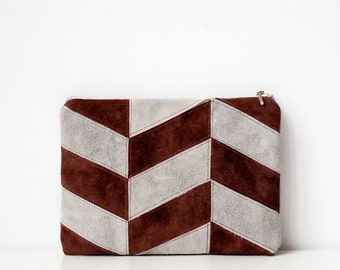 Xmas in July SALE Contrast Chevron Pouch No. SLH-1001