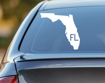Florida Car Decal, State Decal, Florida Decal, Laptop Decal, Laptop Sticker, Car Sticker, Car Decal, Vinyl Decal, FL, Window Sticker, Home
