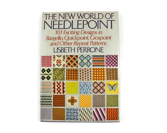 Needlepoint Book - The New World of Needlepoint by L. Perrone, 101 Designs in Bargello, Quickpoint, Grospoint & Other Repeat Patterns, c1972