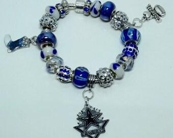 Dallas Cowboys European Style Bracelet - REDUCED PRICE