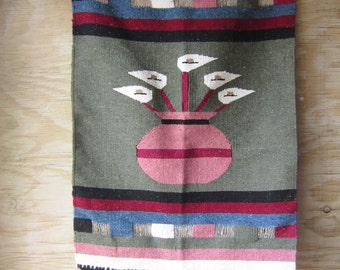 Southwestern Wall Hanging - 80's  Woven Wall Hanging