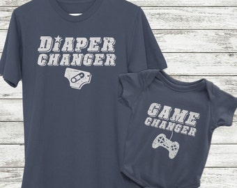 New dad gamer gift, Gamer Dad Gift, Dad and baby Shirts, Gamer dad shirt, Videogame shirt, Gamer gifts for him, videogame gift, Daddy and Me