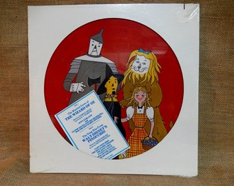 SEALed...The Wizard of Oz/Pinocchio...Musical Score - Vintage Vinyl Record Album...Picture Disc