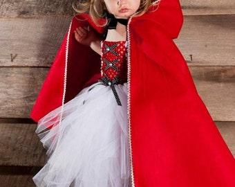 Girls Little Red Riding Hood Tutu Dress Halloween Costume (Newborn - 5T)