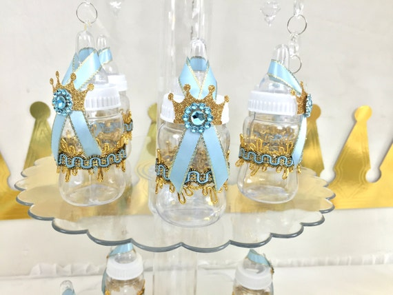 12 prince baby shower favors blue gold boys baby shower bottle