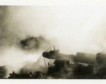 "Vintage Photo ""Destruction"" Snapshot Antique Photo Black & White Photograph Found Paper Ephemera Vernacular - 7"