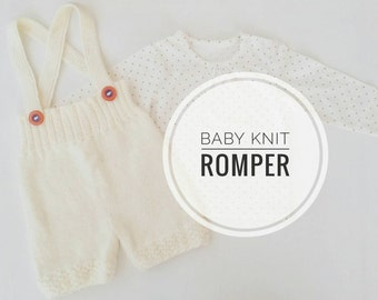 Wool Romper for little one, Baby Knit Romper, Winter Romper, Baby wool outfit, New Baby Ocra Romper, Baby Gift idea