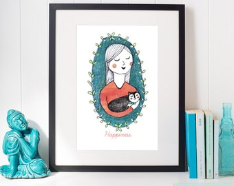 Cat Lady | Art Print