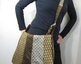 Tie Messenger Bag Necktie Bag Brownie Upcycle