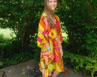 Designer Waltah Clarke's Mod 60's Hawaiian A-Line Dress