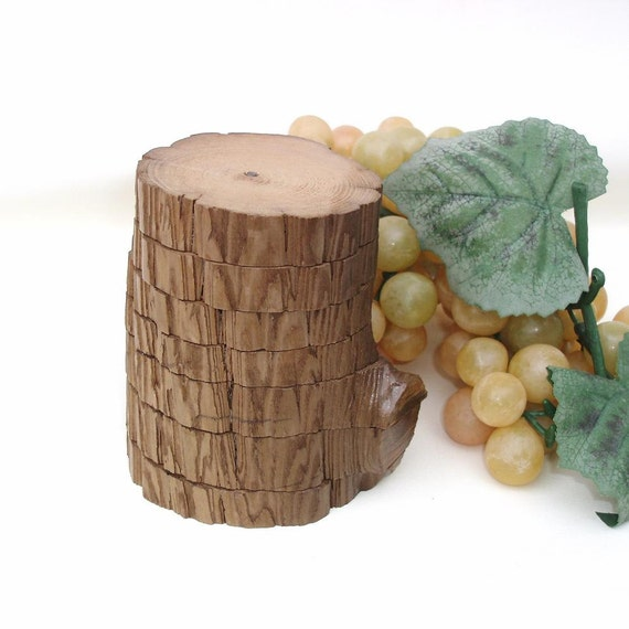 Cypress Wood Drink Coasters Wooden Coaster Set Cajun Art