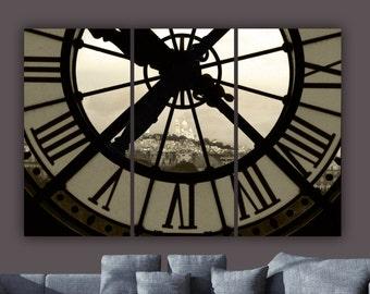 Paris D'Orsay Museum Clock Art views Sacre Coeur Basilica. Large wall art, Eiffel Tower, Paris art, Large art, Paris photo, Paris print,