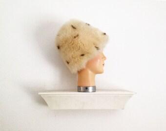 Vintage sheepskin fur hat