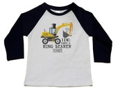 Ring Bearer Gift - I Dig Being a Ring Bearer - Personalized Bridal Party Gift -Jr. Groomsman Bulldozer  - Handcrafted Wedding - Party Gifts