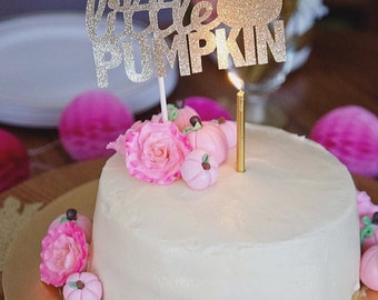 Little Pumpkin Birthday // Baby Shower // Fall // Cake Topper