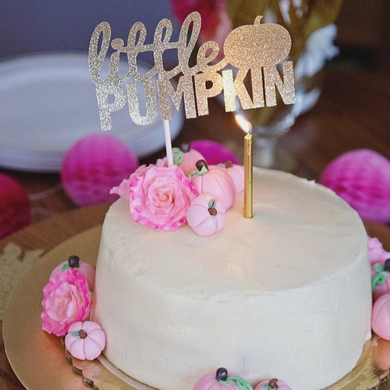 Little Pumpkin Birthday // Baby Shower // Fall // Cake Topper