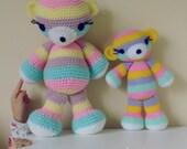Crochet Amigurumi Pattern Bear PDF - Striped bear amigurumi Toy crochet pattern - Instant DOWNLOAD