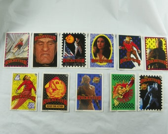 "Vintage 1990's Walt Disney ""The Rocketeer"" Topps Trading Cards with 11 Stickers"