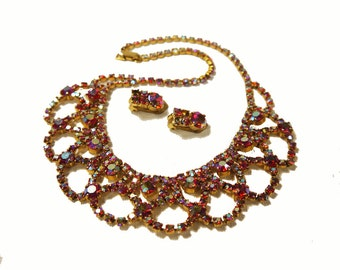 Vintage Demi-Parure Necklace and Earrings 1960s