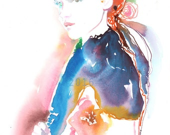 Original Watercolor Painting, Fashion illustration, Cate, Fashion Art, Fashion Painting, Watercolor Fashion Illustration, Blonde