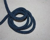 5 mm JEANS Color Cotton Rope = 5 Yards = 4.57 Meters of Elegant Cotton Braided Cord - Bulky Yarn - Super Bulky Yarn - Macrame Cotton Cord