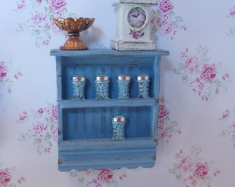 Shabby Chic Country Spice Rack for Dollhouse