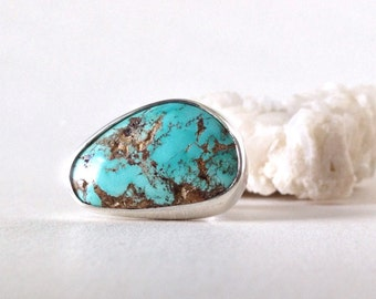 Silver Ring, Turquoise, unique handmade gift, ready to ship