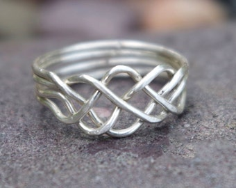 Celtic Puzzle Ring | Ring Size 8.25 | Sterling Silver
